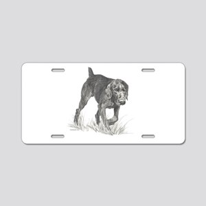German Wire Hair Pointer Aluminum License Plate