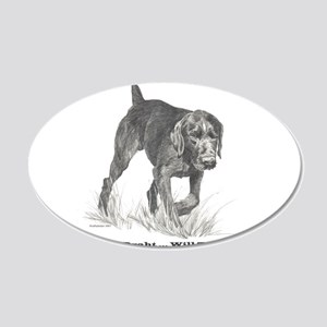 German Wire Haired Pointer sl 22x14 Oval Wall Peel