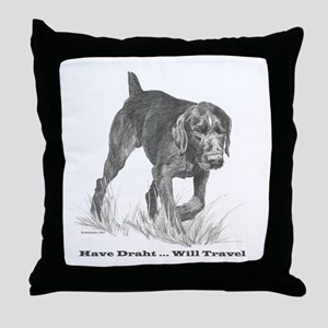 German Wire Haired Pointer sl Throw Pillow