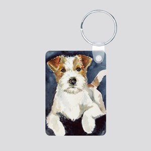 Jack Russell Terrier 2 Aluminum Photo Keychain