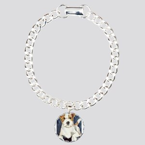 Jack Russell Terrier 2 Charm Bracelet, One Charm