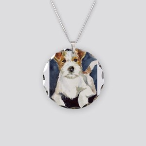 Jack Russell Terrier 2 Necklace Circle Charm
