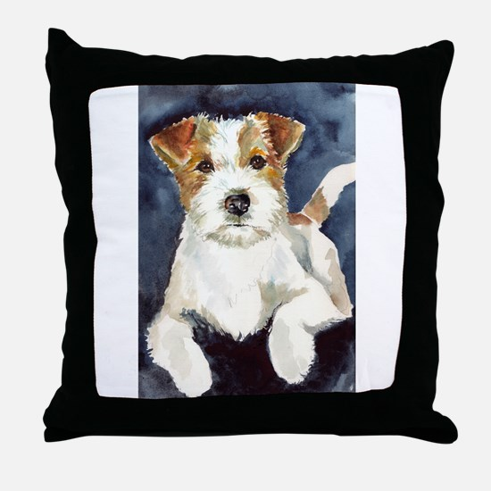 Jack Russell Terrier 2 Throw Pillow