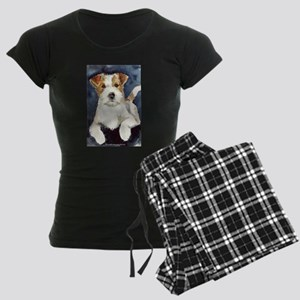 Jack Russell Terrier 2 Women's Dark Pajamas