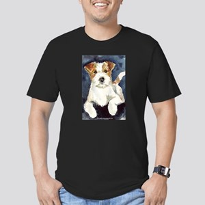 Jack Russell Terrier 2 Men's Fitted T-Shirt (dark)