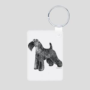 Kerry Blue Terrier Aluminum Photo Keychain