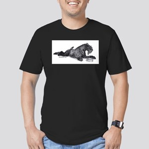 Kerry with Bowl Men's Fitted T-Shirt (dark)