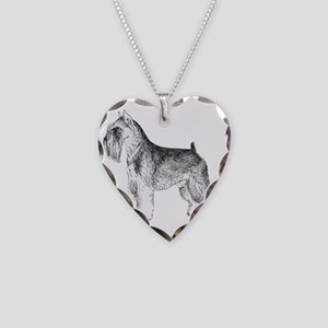 Miniature Schnauzer Necklace Heart Charm