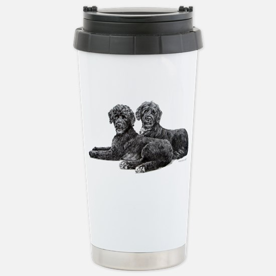 Portuguese Water Dogs Stainless Steel Travel Mug