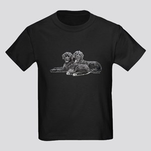 Portuguese Water Dogs Kids Dark T-Shirt