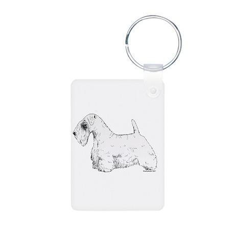 Sealyham Terrier Aluminum Photo Keychain