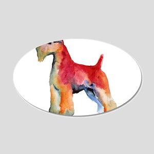 Soft Coated Wheaten Terrier w 22x14 Oval Wall Peel