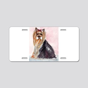 Obedience Yorkie Aluminum License Plate