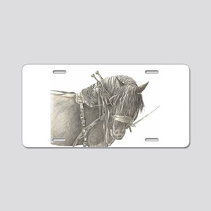 Draft Horse Aluminum License Plate