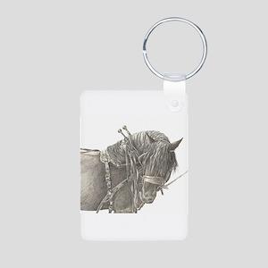 Draft Horse Aluminum Photo Keychain