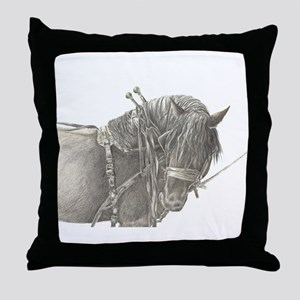 Draft Horse Throw Pillow
