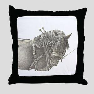 Draft Horse Throw Pillow