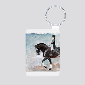 Dressage 1 Aluminum Photo Keychain