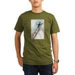 Giraffe Organic Men's T-Shirt (dark)