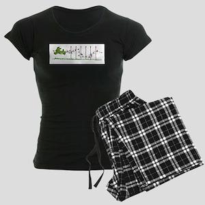 Agility Christmas Lights Women's Dark Pajamas