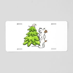 Jack Russell Christmas Aluminum License Plate