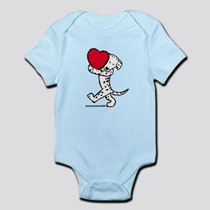 Dalmatian Valentine Infant Bodysuit