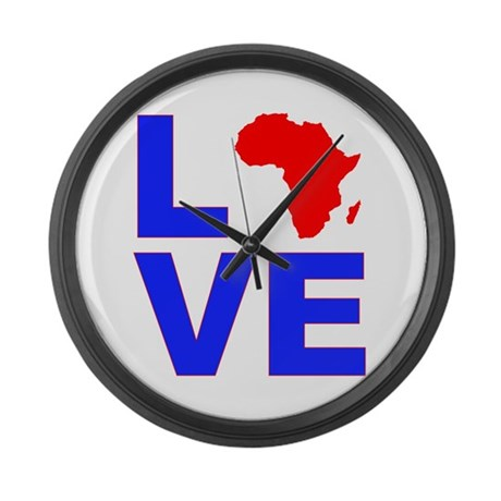 Love Africa Large Wall Clock
