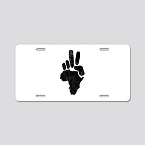 African Peace Aluminum License Plate