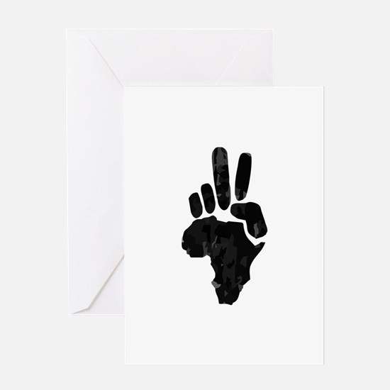 African Peace Greeting Card