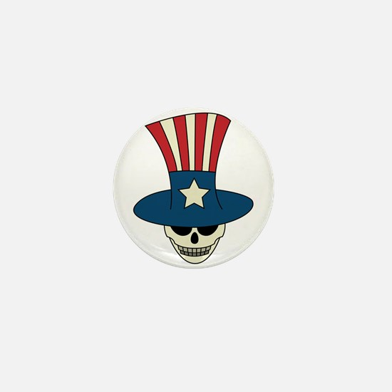 Uncle Damned Sam Mini Button
