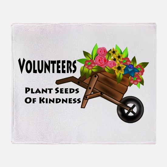 Volunteers Plant Seeds of Kindness Throw Blanket