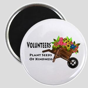 "Volunteers Plant Seeds of Kindness 2.25"" Magnet (1"