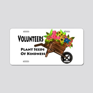 Volunteers Plant Seeds of Kindness Aluminum Licens