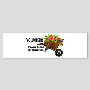 Volunteers Plant Seeds of Kindness Sticker (Bumper