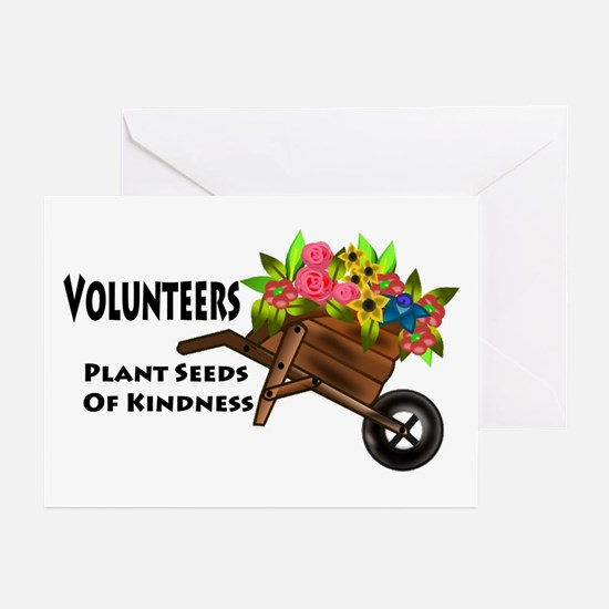 Volunteers Plant Seeds of Kindness Greeting Cards