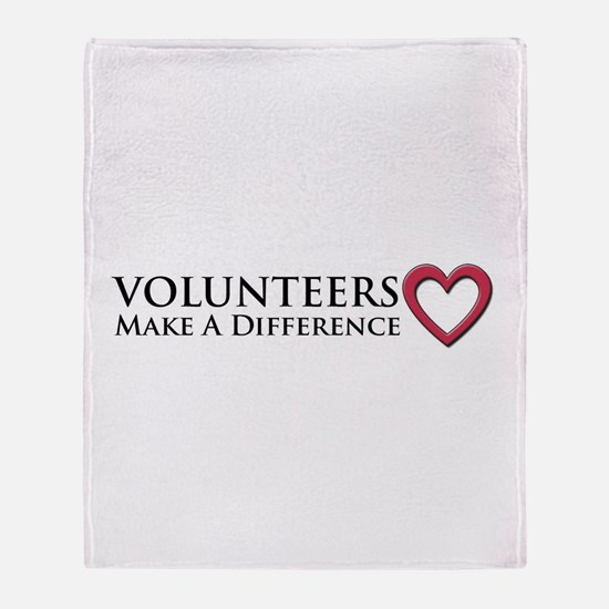 Volunteers Make a Difference Throw Blanket