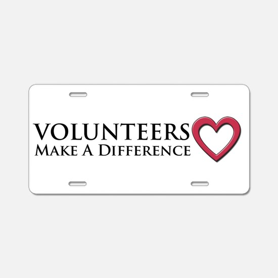 Volunteers Make a Difference Aluminum License Plat