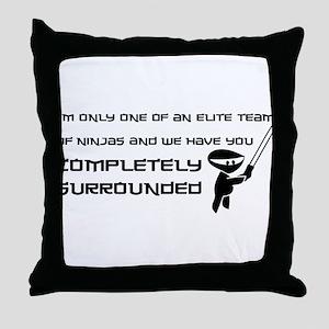 Elite Ninjas Throw Pillow