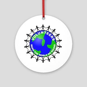 Volunteers Make the World Go Ornament (Round)