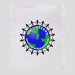 Volunteers Make the World Go Throw Blanket