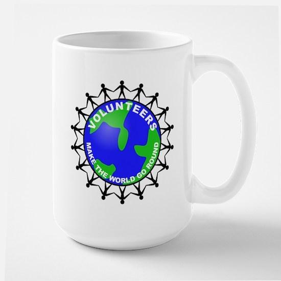 Volunteers Make the World Go Large Mug