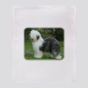 Old English Sheepdog 9F054D-18 Throw Blanket