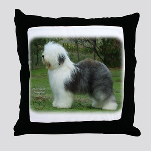 Old English Sheepdog 9F054D-18 Throw Pillow