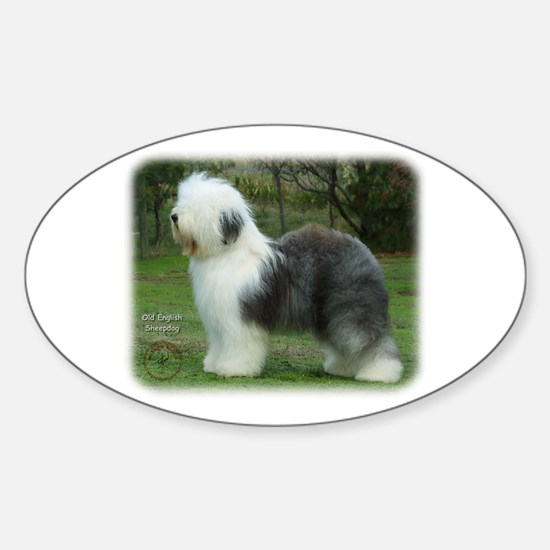 Old English Sheepdog 9F054D-18 Sticker (Oval)