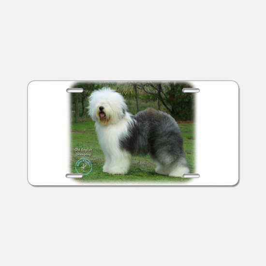 Old English Sheepdog 9F054D-17 Aluminum License Pl