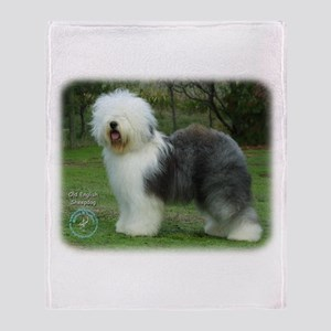 Old English Sheepdog 9F054D-17 Throw Blanket