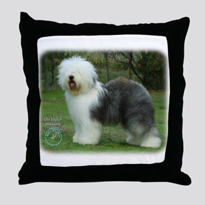 Old English Sheepdog 9F054D-17 Throw Pillow