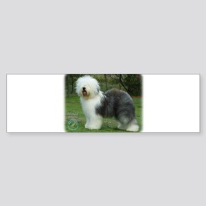 Old English Sheepdog 9F054D-17 Sticker (Bumper)