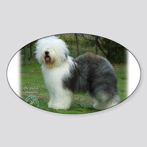Old English Sheepdog 9F054D-17 Sticker (Oval)