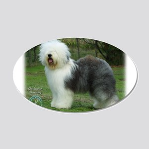Old English Sheepdog 9F054D-17 22x14 Oval Wall Pee